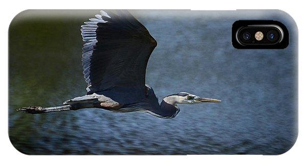 Blue Heron Skies  IPhone Case