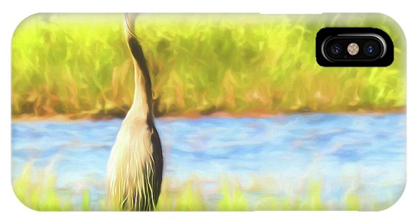 Blue Heron Standing Tall And Alert IPhone Case