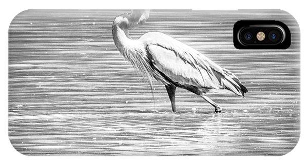 Blue Heron Strut IPhone Case