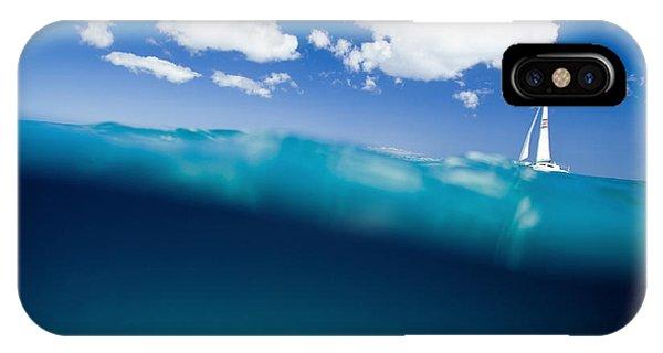 Catamaran iPhone Case - Blue Hill by Sean Davey