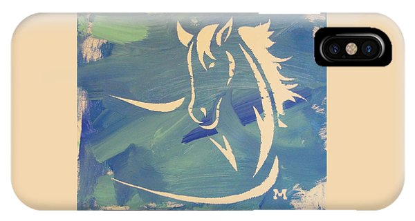 Blue Horse Sky IPhone Case