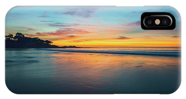 Blue Hour At Carmel, Ca Beach IPhone Case