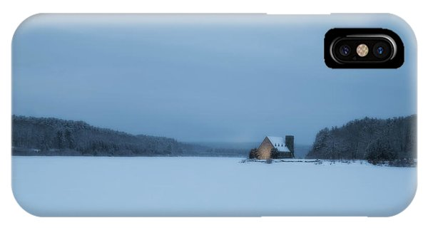 Blue Hour At The Old Stone Church IPhone Case