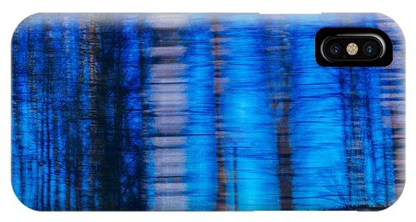 Blue Hour In Birch Forest IPhone Case