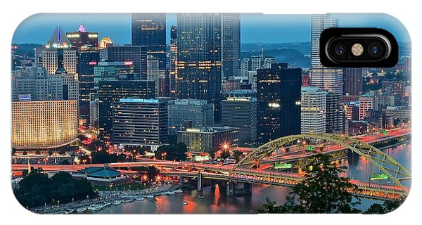 Blue Hour In Pittsburgh IPhone Case