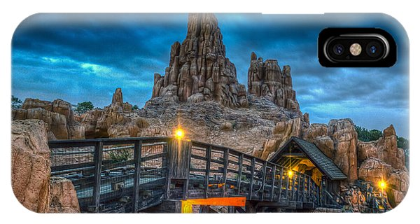 Blue Hour Over Big Thunder Mountain IPhone Case