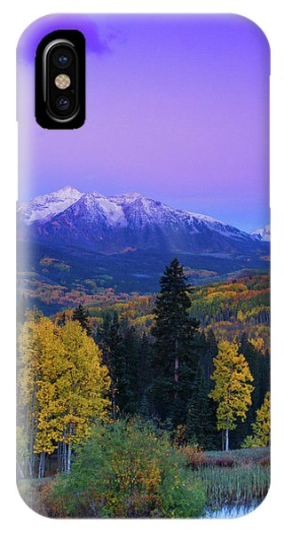 IPhone Case featuring the photograph Blue Hour Over East Beckwith by John De Bord