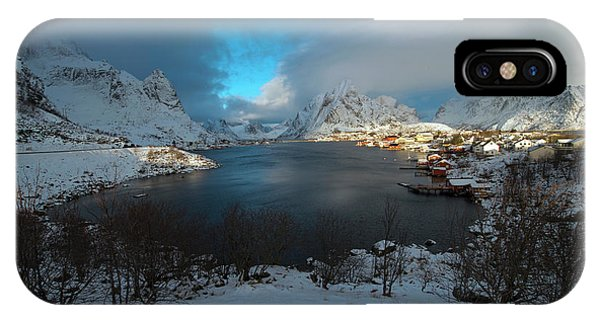 Blue Hour Over Reine IPhone Case