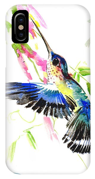 Blue Hummingbird IPhone Case