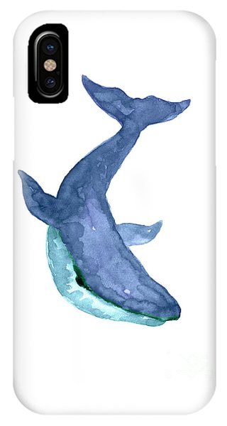 Condo iPhone Case - Blue Humpback Whale Watercolor by Joanna Szmerdt