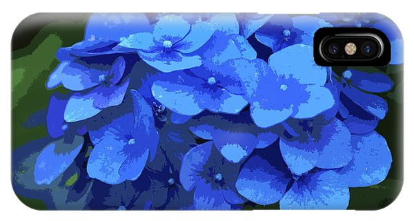 Blue Hydrangea Stylized IPhone Case