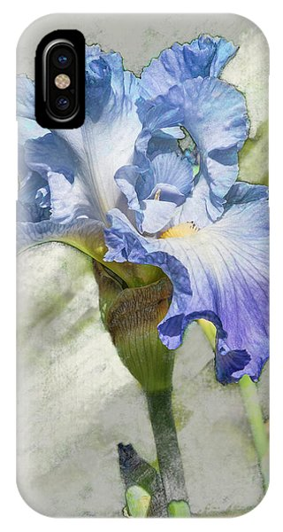 Blue Iris 2 IPhone Case