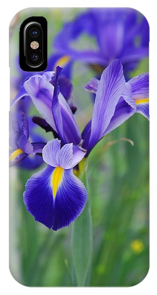 Blue Iris Flower IPhone Case