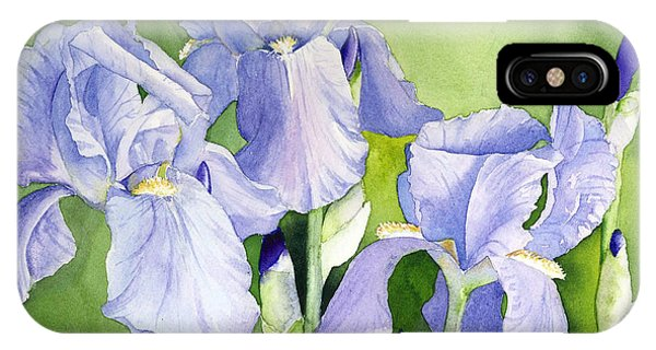 Blue Iris IPhone Case