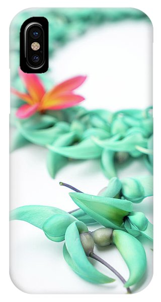 Blue Jade Lei IPhone Case
