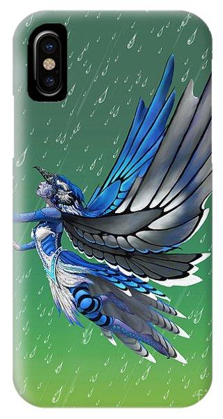 Blue Jay Fairy IPhone Case