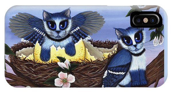 Blue Jay Kittens IPhone Case