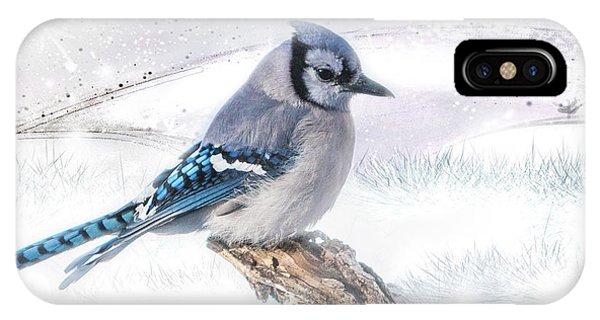 Blue Jay Snow IPhone Case