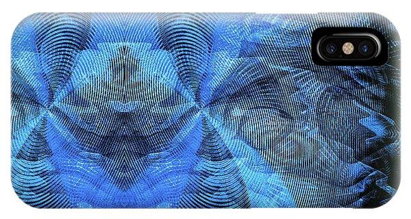 IPhone Case featuring the digital art Blue Kitty by Visual Artist Frank Bonilla