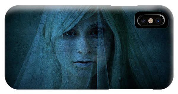 Shrouds iPhone Case - Blue Lady by Diane Diederich