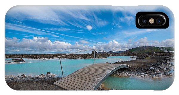 Michael iPhone Case - Blue Lagoon Bridge by Michael Ver Sprill