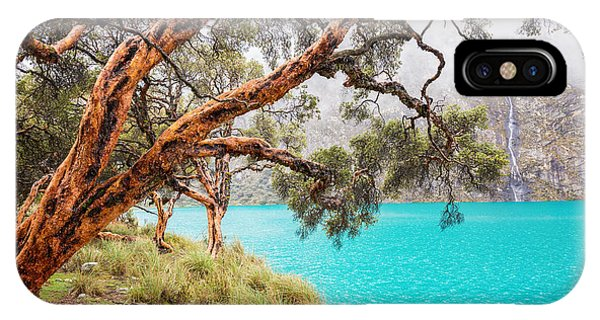 Uas iPhone Case - Blue Lake In The Cordillera Blanca by Jess Kraft