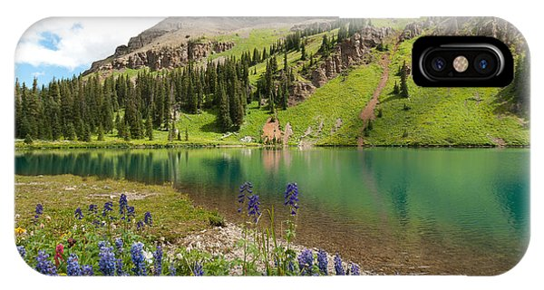 Blue Lakes Summer Splendor IPhone Case