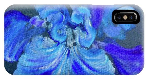 Blue/lavender Iris IPhone Case