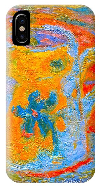 IPhone Case featuring the painting Blue Life by Kendall Kessler