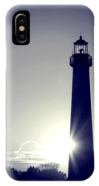 Blue Lighthouse Silhouette IPhone Case