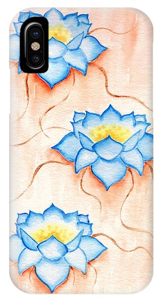 Blue Lilies IPhone Case
