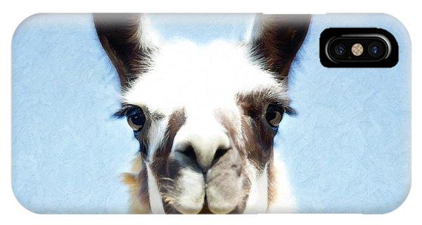 Blue Llama IPhone Case
