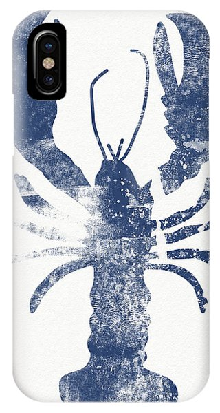Blue Lobster- Art By Linda Woods IPhone Case