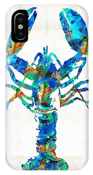 Primary Colors iPhone Case - Blue Lobster Art By Sharon Cummings by Sharon Cummings