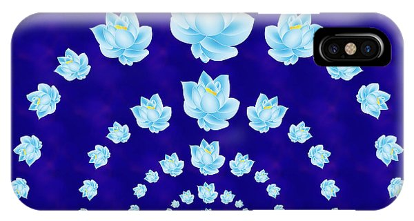 Blue Lotus Tunnel IPhone Case