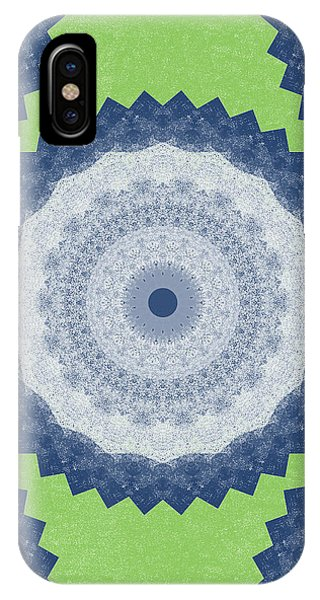 Fractals iPhone Case - Blue Mandala- Art By Linda Woods by Linda Woods
