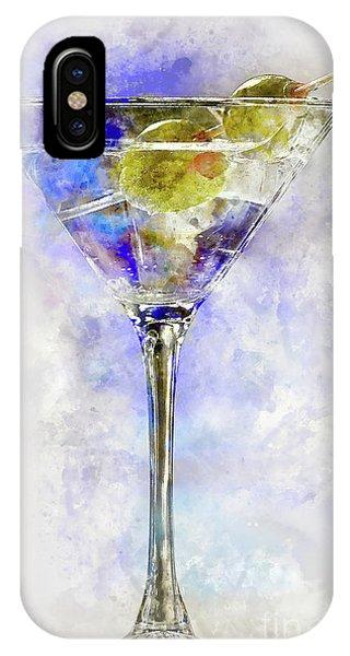 Martini iPhone Case -  Blue Martini by Jon Neidert