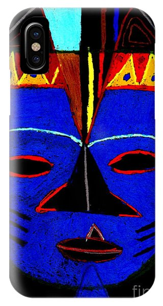 Blue Mask IPhone Case
