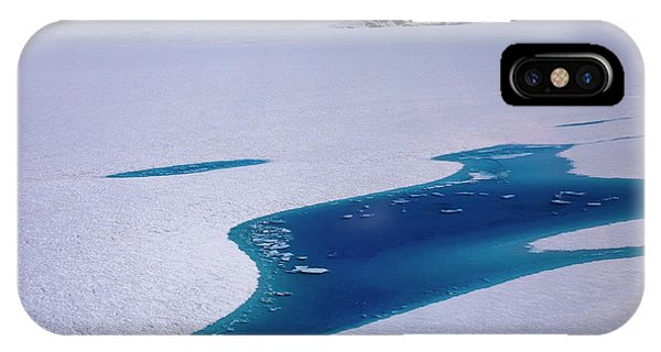 IPhone Case featuring the photograph Blue Meltwater Lake  by Fred Denner