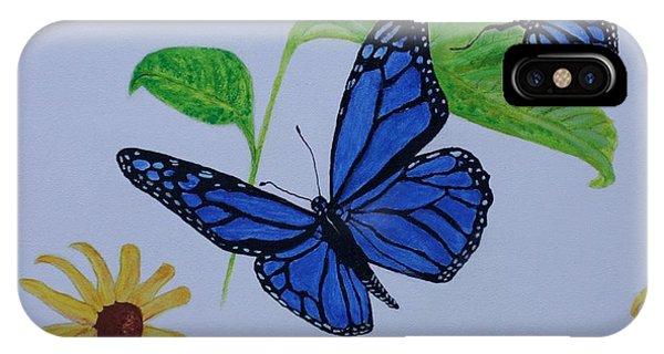 Blue Monarch IPhone Case