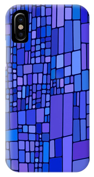 Blue Mondrian IPhone Case