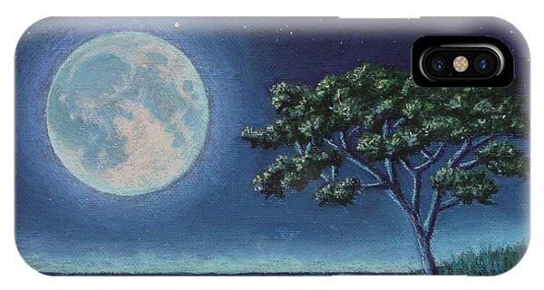 Blue Moon 01 IPhone Case