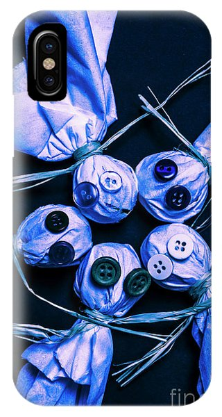 Or iPhone Case - Blue Moon Halloween Scarecrows by Jorgo Photography - Wall Art Gallery