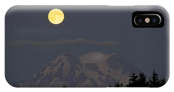 Blue Moon - Mount Rainier IPhone Case