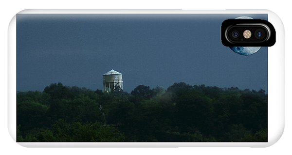 Blue Moon Over Zanesville Water Tower IPhone Case