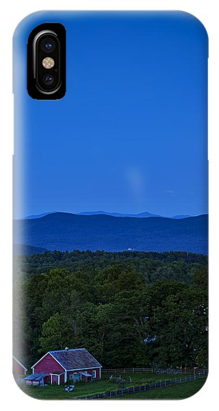 Blue Moon Rising Over Church Steeple IPhone Case