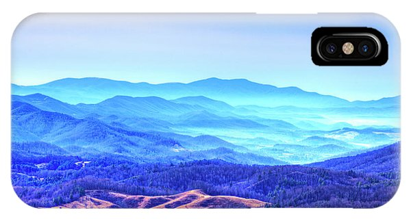 Blue Mountain Mist IPhone Case