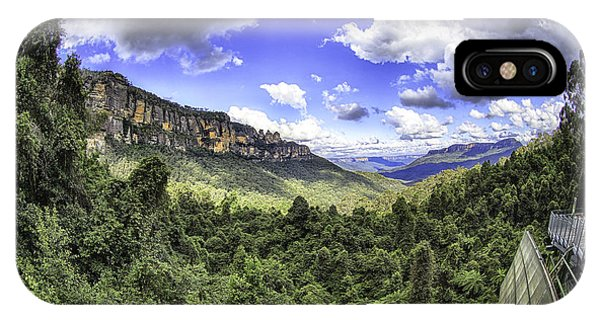 Blue Mountains Fisheye IPhone Case