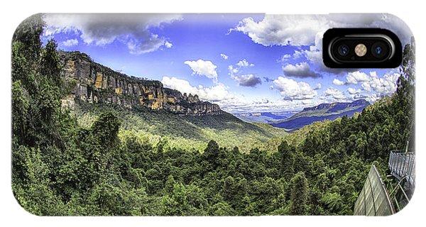 Blue Mountains Fisheye IPhone Case