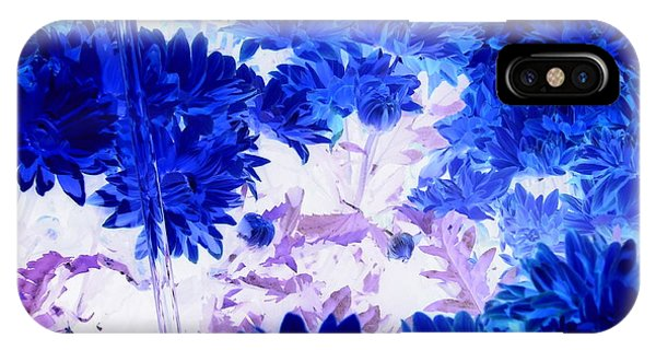 Blue Mums And Water IPhone Case